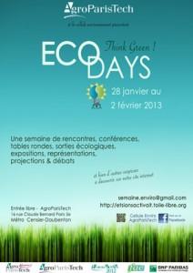 Hanna et Pierre, deux étudiants membres de la Cellule Environnement d'AgroParisTech organisent les ECO'Days 2013